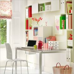 Modern Feminine Home Office Interior