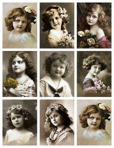 *** Vintage Little girl***! Vintage Abbildungen, Album Vintage, Images Vintage, Decoupage Vintage, Vintage Labels, Vintage Ephemera, Vintage Girls, Vintage Pictures, Vintage Photographs