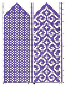 turkish pattern mittens: knitting tutorial - crafts ideas - crafts for kids Knitted Mittens Pattern, Knitted Slippers, Knit Mittens, Knitting Socks, Fingerless Mittens, Loom Knitting, Knitting Charts, Knitting Stitches, Knitting Patterns