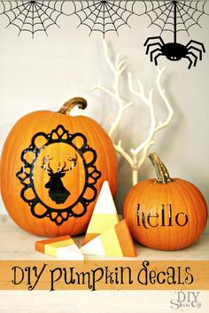DIY Halloween : DIY halloween silhouettes Pumpkin : DIY Halloween Decor