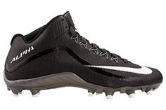 quality design 8174d 7adee NIKE Men s Alpha Pro 2 Football Cleat Black Dark Grey White Size 10.5 M US