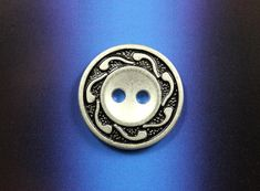 Swirl Pattern Retro Silver Contrast Color Buttons