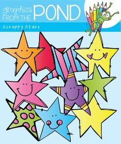 This is a fun and free set of 10 scrappy stars! It includes 20 individual png files to use in your latest teaching resource files.All files are 300 dpi (for clear, crisp printing!). There are ten designs.You are able to use them for any personal or classroom project OR Any teaching document file resource that you sell.