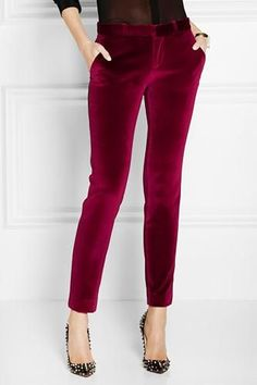 We're showing you three different ways to wear bright colored pants this winter.
