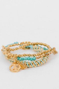 Peace Out Bracelet in Turquoise =$21 at www.tobi.com  just ordered this so cute <3
