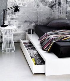 8 Simple and Modern Tips Can Change Your Life: Minimalist Home Industrial Living Rooms room minimalist bedroom spaces.Modern Minimalist Interior Floating Stairs minimalist home diy small spaces.Minimalist Home Industrial Living Rooms. Black White Bedrooms, White Bedroom Decor, Home Decor Bedroom, Modern Bedroom, Bedroom Furniture, Bedroom Ideas, Bedroom Designs, Master Bedroom, Black Furniture