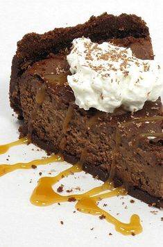 """Baked Chocolate Caramel Cheesecake 