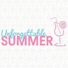 """Plotterdatei """"Unforgettable Summer"""""""