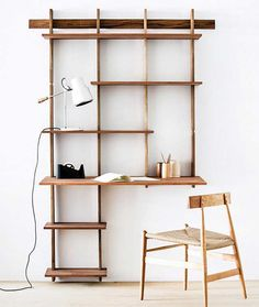 Sticotti Bookshelf / 23 Uberstylish Modular Wall-Mounted Shelving Systems http://vurni.com/modular-wall-mounted-shelving-systems/