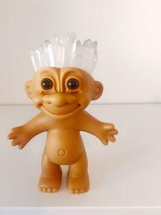 troll doll, crystal troll doll, troll dolls, crystal quartz decor, raw crystal decor, clear quartz stone, crystal boho decor, clear quartz by WhenCaraMetRex on Etsy https://www.etsy.com/listing/519224859/troll-doll-crystal-troll-doll-troll