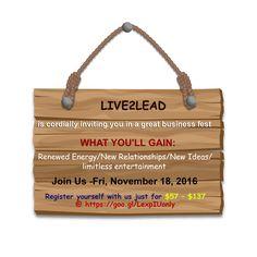Live2Lead:Rancho Cucamonga www.live2leadranchocucamonga.eventbrite.com