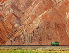 John Harwood of Aylesbury, Bucks, captured this lone vehicle passing through the mountains in northern Iran.