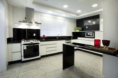 Cozinha com granito Branco Dallas