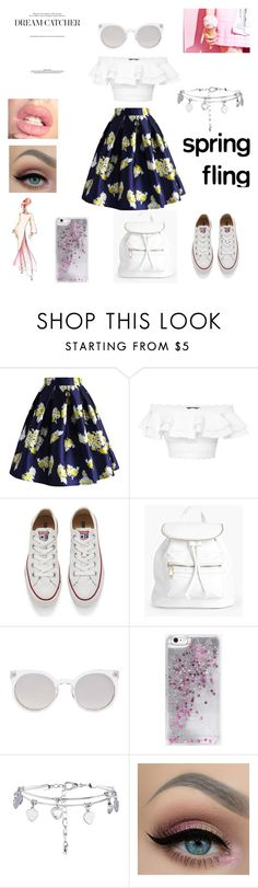 """""""spring look"""" by livelovelaugh55 ❤ liked on Polyvore featuring Chicwish, Alexander McQueen, Converse, Boohoo, Kosha, Skinnydip, New Look and Elie Saab"""