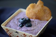 Cinnamon Sugar Crisps with Sweet and Fluffy Blueberry Dip Recipe