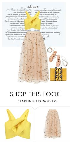"""""""2"""" by mirage-of-you ❤ liked on Polyvore featuring Delpozo, Valentino, Ancient Greek Sandals and Nancy Gonzalez"""