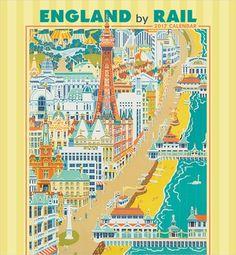 England by Rail 2017 Wall Calendar