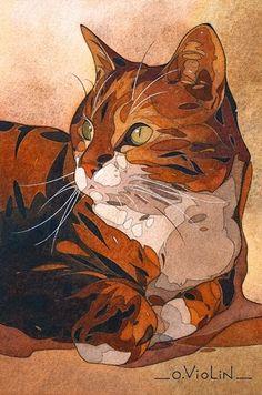 Histoire de Chats: dessin Sonye par Oliver Violin