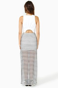 i need a striped maxi skirt like this but less sheer and with thinner stripes. I could pair this with crop tops, jean jackets, cute jujus, etc. (great essential for summer)