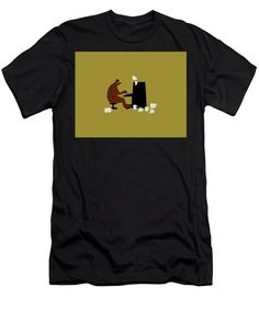 The Bear Play, Black Image, Things That Bounce, Beer, Stylish, Mens Tops, T Shirt, Root Beer, Supreme T Shirt