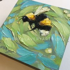 Bumblebee painting Tiny original impressionistic oil by LaveryART Bee Painting, Oil Painting Flowers, Painting & Drawing, Original Art, Original Paintings, Mini Canvas Art, Bee Art, Animal Paintings, Acrylic Painting Animals