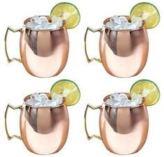 Amazon.com: Moscow Mule Solid Copper Mug / Cup, 16 Ounce, Set of 4: Home & Kitchen