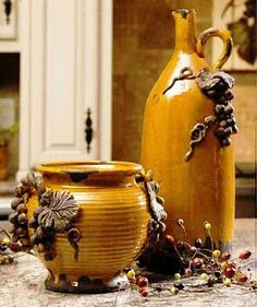 tuscan inspired homes - Yahoo! Search Results I have the smaller piece on the design ideas room design design home design decorating Tuscan Style Homes, Tuscan House, Tuscan Home Decorating, Decorating Ideas, Decor Ideas, Craft Ideas, Style Toscan, Tuscany Decor, Olive Jar