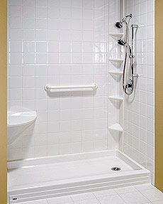 Replace tub with walk in shower tub to shower conversion - Bathroom remodel tub to shower conversion ...