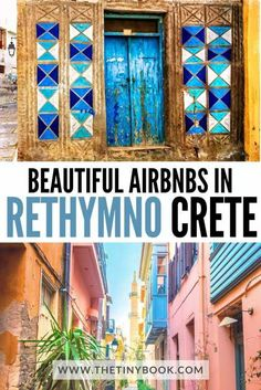 Fantastic Airbnbs in Rethymnon, Crete | The Tiny Book Europe Destinations, Europe Travel Tips, European Travel, Amazing Destinations, Travel Guides, Greek Islands Vacation, Greece Vacation, Greece Travel, Rethymnon Crete