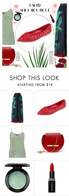 """LACED SHOE BOUTIQUE"" by gaby-mil ❤ liked on Polyvore featuring F.R.S For Restless Sleepers, Hillier Bartley, Angela Valentine Handbags, MAC Cosmetics and Smashbox"