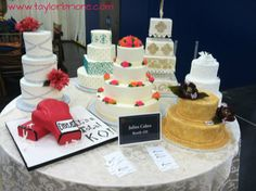 wedding cakes from Houston Bridal Extravaganza! #weddings #events #decors