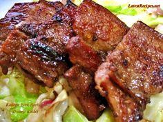 Dwaeji Kalbi (Sweet and Spicy Korean Pork Barbecue) Spicy Korean Pork, Korean Food, Pork Belly Recipes, Chicken Recipes, Kalbi Beef, Beef Barbecue, Pork Cutlets, Asian Recipes, Filipino Recipes