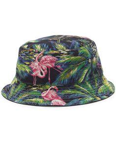 Polo Ralph Lauren Flamingo-Print Reversible Bucket Hat Hats For Men 97f487e9cb12