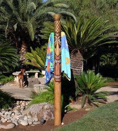 Towel Racks Totems And Tiki Totem On Pinterest