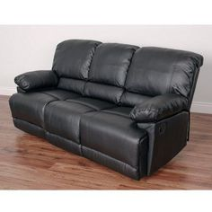 CorLiving Lea Bonded Leather Reclining Sofa - LZY-301-S