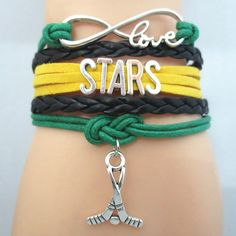 TODAY'S SPECIAL OFFER BUY 1 OR MORE, GET 1 FREE - $19.99! Limited time offer - Infinity Love Dallas Stars Hockey Team Bracelet on Sale. Buy one or more bracelets and we will give you one extra bracele