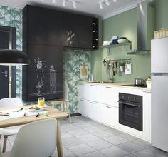METOD/UDDEVALLA keuken | IKEA IKEAnl IKEAnederland nieuw inspiratie wooninspiratie interieur wooninterieur koken eten diner veelzijdig eetkamerstoel eetkamertafel tafel stoel