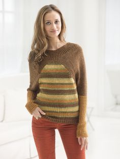 Raglan Redux Pullover-- I may have found the sweater pattern that will make me want to try knitting.