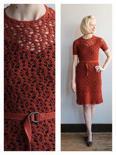 1940s Dress // Sunset Boulevard Crochet Dress by dethrosevintage
