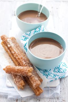 Churros! Might skip the Spiced Chocolate Bisque bit and go for some simple milk chocolate dip