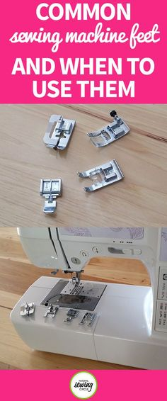 If you're new to sewing, you may have just started with the standard presser foot that comes on the machine and haven't yet changed it out. Most machines comes with several different presser feet that can make some aspects of sewing much easier.