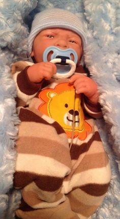 AWW! BABY BOY! REBORN PREEMIE LIFE LIKE PACIFIER/BOTTLE + EXTRAS GREAT PRICE #BERENGUER