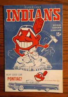 1959 Cleveland Indians vs New York Yankees program #ClevelandIndians