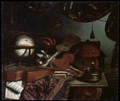 'Still life with Musical Instruments', 1718 Artist: Bonaventura Bettera