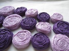 Paper Rosettes - Purple and Lavender Set of 20 - Custom Colors Available. $18.00, via Etsy.