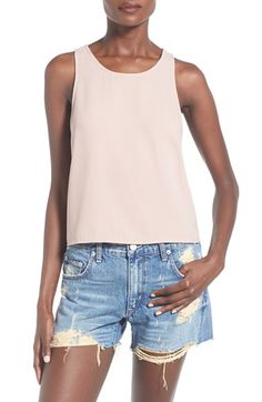 Leith Boxy Crepe Tank available at #Nordstrom