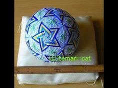 "Temari Lecture 75. How to make a Temari ""Seimei Chinese bellflower""."