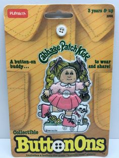 (TAS032852) - 1984 PlaySkool Collectible Cabbage Patch Kids ButtonOns