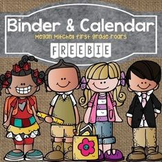 Monthly Editable Calendars & Binder Covers Freebie by First Grade Roars 3rd Grade Classroom, Preschool Classroom, Classroom Themes, Classroom Libraries, Classroom Clipart, Teacher Binder, Teacher Organization, Organized Teacher, Teacher Freebies