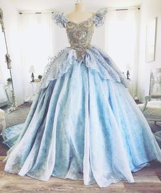 Sending her off today to make it time for the ball! I love making #cinderella gowns!!! #designerdaddy #cosplay #costume #fashion #disney #disneyprincess